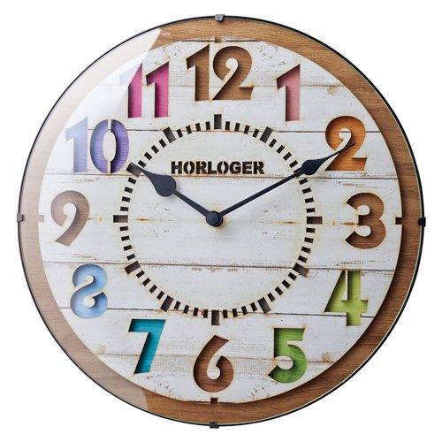 フォルリホワイト電波掛け時計