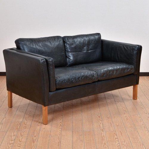 北欧デンマークビンテージ家具/UD7053/二人掛けソファ