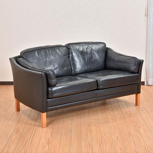 北欧デンマークビンテージ家具/UD7099/二人掛けソファ