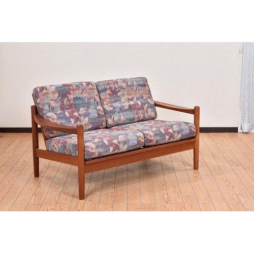 北欧デンマークビンテージ家具/UD7081/二人掛けソファ