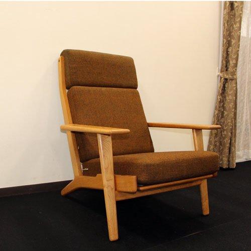 北欧デンマークのビンテージ家具/UD5007/GE290Aハイバックアームチェア/ウェグナー