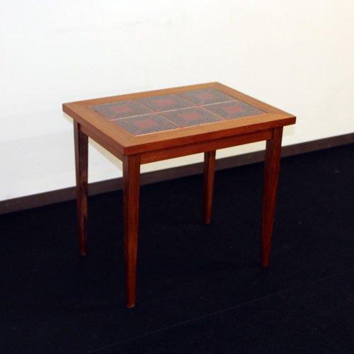 北欧デンマークビンテージ家具/UD7025/タイル付きサイドテーブル
