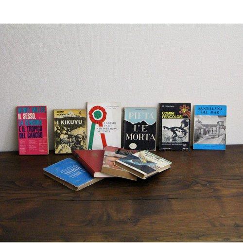 北欧家具アウトレット/イタリア製洋古書/ディスプレイ用 /限定10冊セット販売【C】