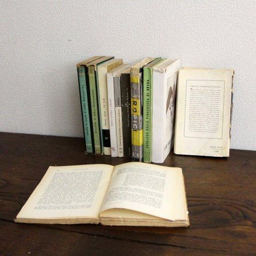 北欧家具アウトレット/イタリア製洋古書/ディスプレイ用 /限定11冊セット販売【E】