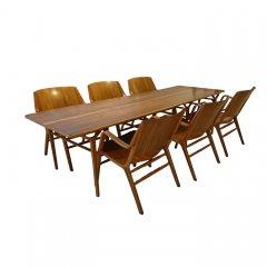 ダイニング7点セット(AX-table,AX-chair)UD8279