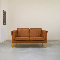 2seater leather sofa(LBR)/UD8270