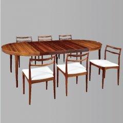 デザイナーズ ラウンドダイニングテーブル&チェア 7点セット/UD6066
