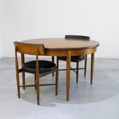 G-plan(ジープラン)/Fresco(フレスコ)/ラウンド伸長式ダイニングテーブル(幅1220⇒1675)/UU_NW051�