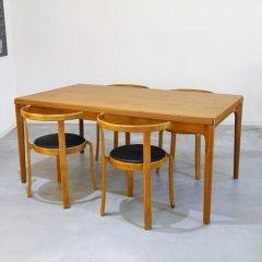 デザイナーズ/ドロップリーフダイニングテーブル(伸長式)(1745→2197→2744)/DT1720