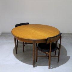 G-plan(ジープラン)/Fresco(フレスコ)/ラウンド伸長式ダイニングテーブル(幅1220⇒1675)/UU_DT1867