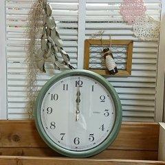 エアリアルレトロ電波掛け時計/W-571