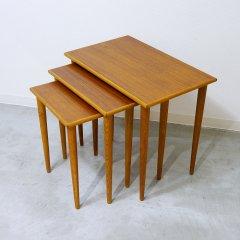 ネストテーブル/チーク&オーク|UD9055