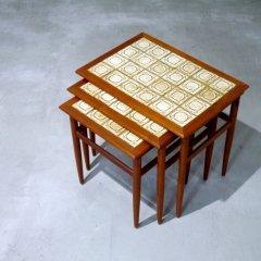 タイルトップ ネストテーブル / チーク|UD10003