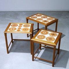 タイルトップ ネストテーブル / チーク|UD10005