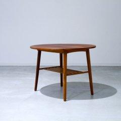 バタフライ / ラウンドサイドテーブル / チーク |UD10120