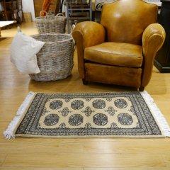 76x125cm|パキスタン手織り絨毯 / ムガールJ(BE) / 1点物