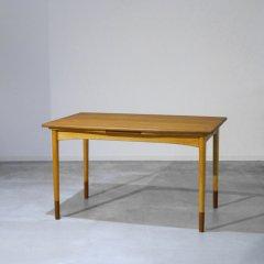 伸長式ダイニングテーブル(幅130cm) / チーク&ビーチ|UD9138