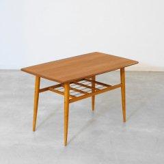 リビングテーブル(チーク&ブナ/幅95cm)|UD10393