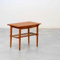 スモールテーブル(チーク&オーク&ラタン)|UD10392