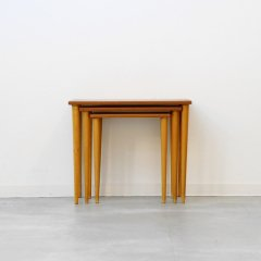 ネストテーブル(チーク&ブナ)|UD10400