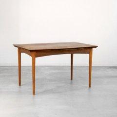 伸長式ダイニングテーブル (チーク&オーク)幅130cm|UD10425