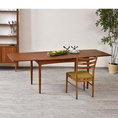 伸長式ダイニングテーブル(チーク/幅125cm)|UD7364【恵比寿ショールーム】