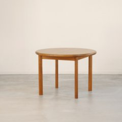 ラウンド伸長式ダイニングテーブル(チーク)直径106cm|DT2269