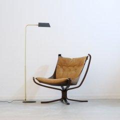 デザイナーズ|ファルコンチェア(キャメル/ウッド)シガード・レッセル|UD11001-2