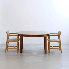 デザイナーズ|ラウンドダイニングテーブル(幅130cm)/ボーエ・モーエンセン|UD11363