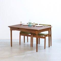 伸長式ダイニングテーブル(チーク・&オーク・幅128cm) |UD11203