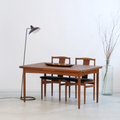 伸長式ダイニングテーブル(チーク・幅139cm) |UD11202