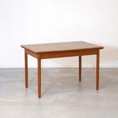 伸長式ダイニングテーブル(チーク・幅121cm) |DT2257