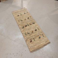 手織り絨毯49x141cm(ウール100%)|ギャッベ20-3997