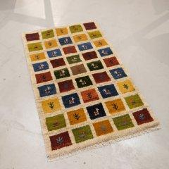 手織り絨毯79x125cm(ウール100%)|ギャッベ20-7678