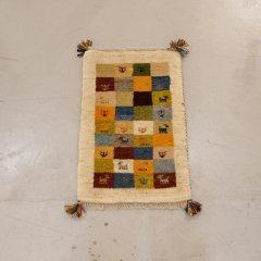 手織り絨毯62x39cm(ウール100%)|ギャッベ20-7791