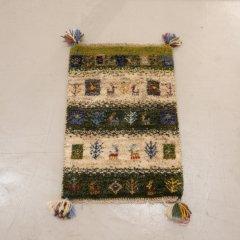手織り絨毯60x39cm(ウール100%)|ギャッベ20-3459