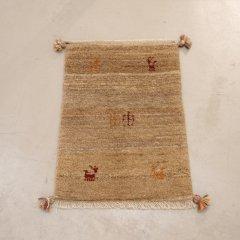 手織り絨毯67x46cm(ウール100%)|ギャッベ-9550