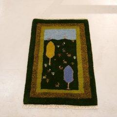 手織り絨毯89x59cm(ウール100%)|ギャッベ20-6358