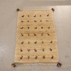 手織り絨毯88x59cm(ウール100%)|ギャッベ20-6744