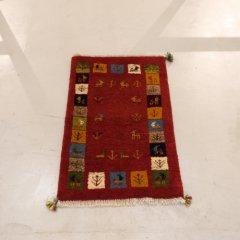 手織り絨毯89x57cm(ウール100%)|ギャッベ20-7624