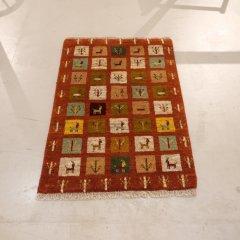 手織り絨毯120x81cm(ウール100%)|ギャッベ20-7686