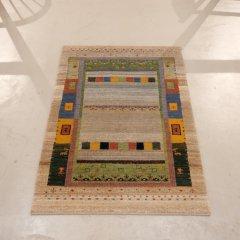 手織り絨毯122x82cm(ウール100%)|ギャッベ20-4723