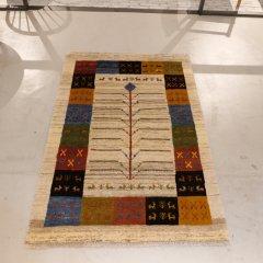 手織り絨毯177x119cm(ウール100%)|ギャッベ20-7729