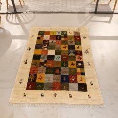 手織り絨毯174x119cm(ウール100%)|ギャッベ20-7730