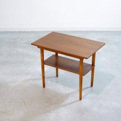サイドテーブル(チーク&ビーチ)|UD11090
