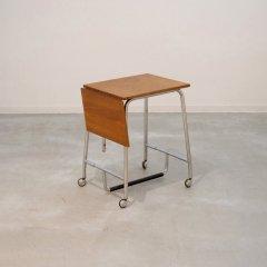 伸長式サイドテーブル(チーク)|UD11084