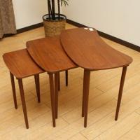 北欧デンマークのビンテージ家具/UD8/ネストテーブル 3PCセット