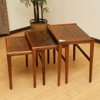 北欧デンマークのビンテージ家具/UD7/ネストテーブル 3PCセット