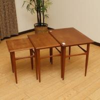 北欧デンマークのビンテージ家具/UD11/ネストテーブル 3PCセット