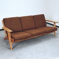 北欧デンマークのビンテージ家具/UD57/ウェグナー3人掛けソファ